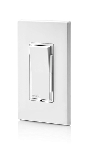Leviton DSL06-1LZ Rocker Dimmer White/Ivory/Light Almond Decora®
