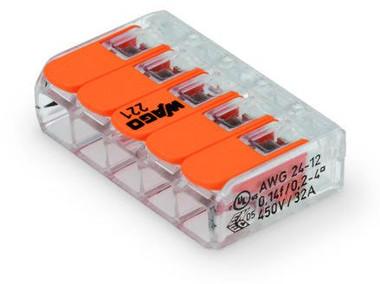 Wago 221-415 - Splicing 5-Conductor Connector