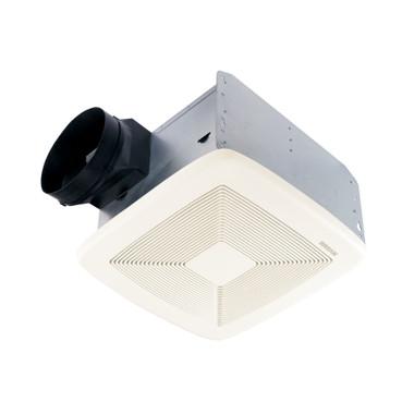 BROAN Broan® QTXE80 CFM Ventilation Fan with White Grille