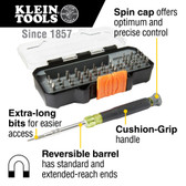 Klein Tools 32717 All-in-1 Precision Screwdriver Set with Case