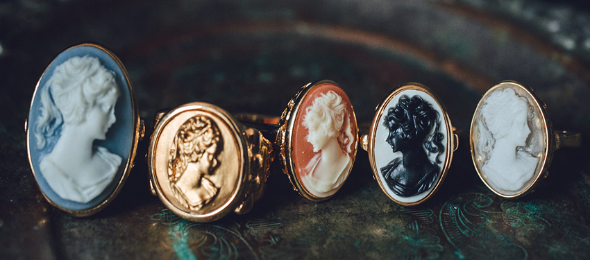 vintage cameo style  rings - buy online now - free shipping