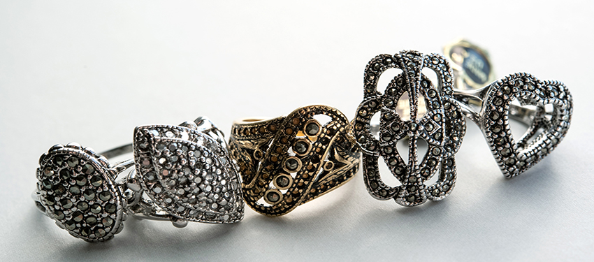 vintage marcasite rings - genuine marcasite - buy online now - free shipping
