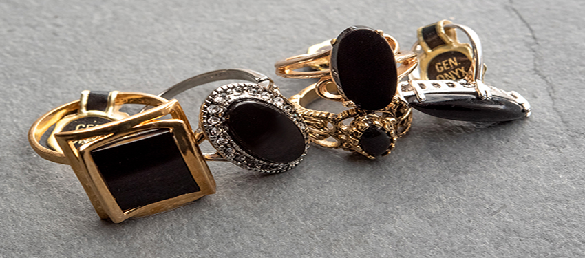 vintage onyx rings - genuine onyx - buy online now - free shipping