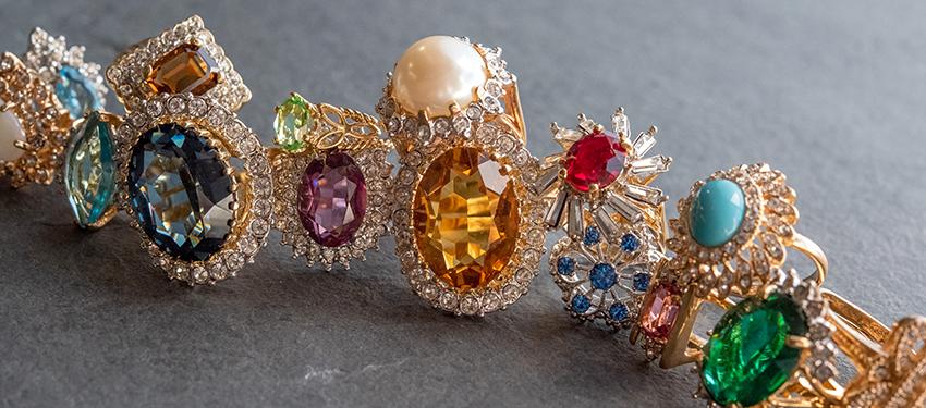 Buy vintage birthstone rings online - gold (white - yellow - rose) - silver - rhodium - free shipping