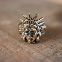 Vintage Ring Lady Liberty Made in USA