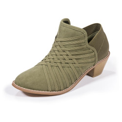 Molly Olive Ankle Booties