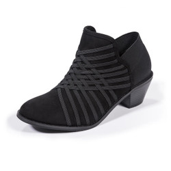 Molly Black Ankle Booties