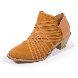 Molly Chestnut Ankle Booties