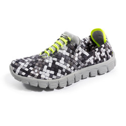 DANIELLE-A Black/Gray Multi Woven Sneakers