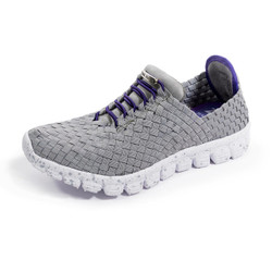 DANIELLE-A Gray/Purple Woven Sneakers