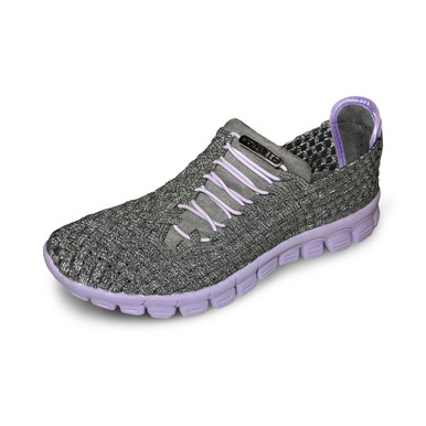 Kirby Pewter/Lilac Bottom Woven Sneakers