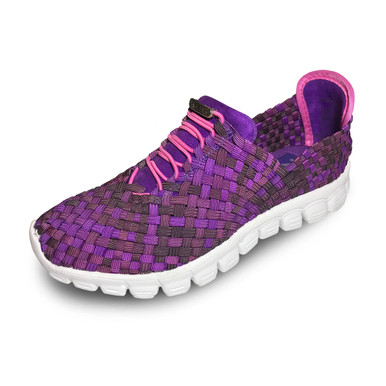Danielle-A Purple Multi Woven Sneakers