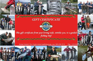 Gift Certificates $235 per angler