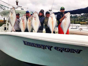 Halibut Fishing Trip $400 per angler this is a 50% deposit