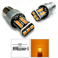 2x 1156 Orange Super Bright LEDS 600 Lumens High Power 3535 Chip LEDs Turn Signal Light Bulbs