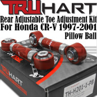 Truhart Adjustable Rear Toe Arm Kit w/ Pillowball for Honda CRV 1997-2001