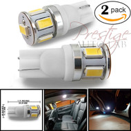 2x T10 194 168, 6-5630SMD LED Bulb lamp White