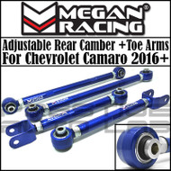 Megan Racing  Adjustable Rear Camber + Toe Arms Kit For Chevrolet Camaro 2016+