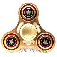 JBD  Captain America style , Anti-Anxiety Fidget Spinner Toy Helps Focusings EDC Focus Toy for Kids & Adults - Stress Reducer Reliever ADHD Anxiety and Boredom