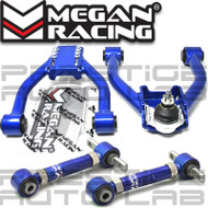 Megan Racing Adjustable Front + Rear Camber Control Arms Kit For Honda CRV CR-V 1997 - 2001