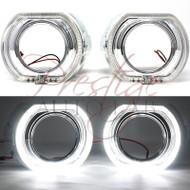 X5-R 3.0 Chrome Square LED Halo Ring Angel eye Projector Shrouds For Headlights