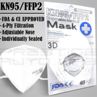 5x KN95 FFP2 [ FDA + CE ] Face Mask Respirator Medical Breathable Layer Protection