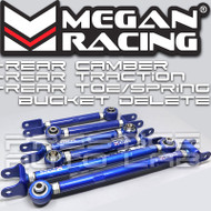 Megan Racing Adjustable Rear Camber + Radius + Toe Arms Kit For Nissan 350Z G35 03-07
