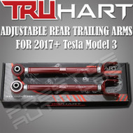 Truhart Adjustable Rear Trailing Arms kit For 2017+ Tesla Model 3