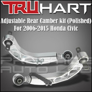 TruHart For 2006-2015 CIVIC REAR ADJUSTABLE CAMBER ARM KIT FA FG - POLISHED