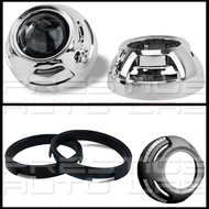 "Apollo 2.0 Chrome (ROUND) HID Retrofit Projector Shroud W/ Centric Ring Fit 2.5"" & 3"""