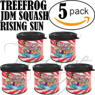 5-Pack TREEFROG JDM Products Tree Frog SQUASH Scent Air Freshener - JDM SQUASH