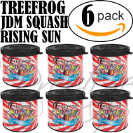 6-Pack TREEFROG JDM Products Tree Frog SQUASH Scent Air Freshener - JDM SQUASH