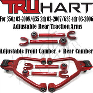 TRUHART Front cambers, Rear Camber & Rear Traction arms Kit For 350Z G35