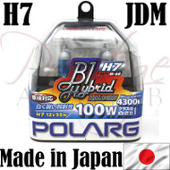 Polarg H7 4300k Miracle White Halogen Bulbs - Made in Japan