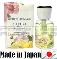 Geranium & Lemon 3056 Carall Naturi Perfume Bottle Air Freshener - Made in Japan JDM