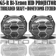 G5-R Clear lens with Honeycomb etching Bi-Xenon HID Projectors
