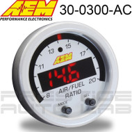 AEM 30-0300-ACC Silver Bezel and White Face for X-Series Wideband UEGO AFR Sensor Controller Gauge