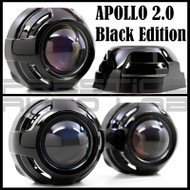 "Apollo 2.0 Chrome HID Retrofit Projector Shroud W/ Centric Ring Fit 2.5"" & 3"" - Black"