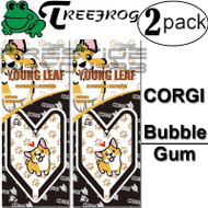 2 PACK Wakaba Japan Treefrog Young Leaf Sunrise Corgi Bubble Gum Scent Air Freshener