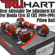 Truhart Adjustable Rear Toe Arm Kit w/ Pillowball for 1988-1991 Civic