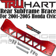 TruHart Anodized Red Rear Subframe Brace Kit For Honda Civic 2001 - 2005 DC EP