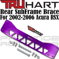 TruHart Anodized Purple Rear Subframe Brace Kit For Acura RSX 2002 - 2006 EP EM EJ