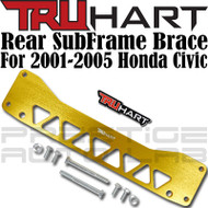 TruHart Anodized Gold Rear Subframe Brace Kit For Honda Civic 2001 - 2005 EP RSX