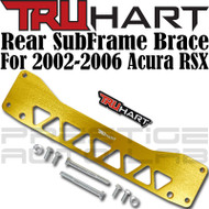 TruHart Anodized Gold Rear Subframe Brace Kit For Acura RSX 2002 - 2006 EP EJ EM