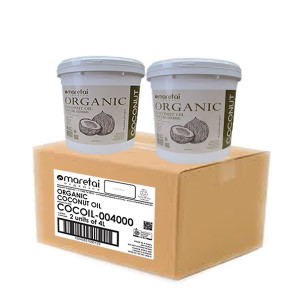 organic virgin coconut oil 4L pail dual pack