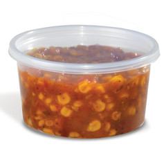 PlaconΠHomeFresh 12 oz. Clear PP Deli Base - (500/case) (Lid sold seperately)