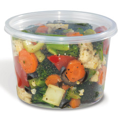 Placon HomeFresh 16 oz. Clear PP Deli Base (500/case) (Lid sold separately)