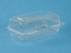"LBH-523 Rectangle Clamshell (500/Case) Size: 9"" x 5 1/2"" x 3 7/16"""
