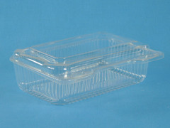 "LBH-571 Rectangle Deep Base with Flat Lid  (500/Case) Size: 7 15/16"" x 5 7/8"" x 2 1/2"""