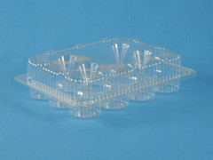 "LBH-6162 12 Count Mini Cupcake/Mini Muffin 1 1/2"" Bottom Cup Diameter (350/Case) Size: 9"" x 6 1/2"" x 2 1/8"""